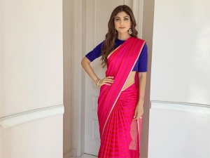 Shilpa Shetty Kundra S Raw Mango Sari For The Fit India Movement In Delhi