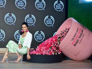 Saaho Actress Shraddha Kapoor In A Quirky Outfit At The Body Shop Tvc Launch