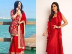 Bollywood Divas In Red Outfits For Navaratri