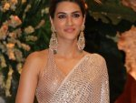 Kriti Sanon Shines At Ambani S Ganesh Chaturthi Celebrations In A Shimmery Sari