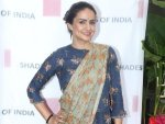 Student Of The Year 2 Actress Gul Panag In A Casual Printed Sari For An Event