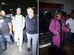 Ranveer Singh In Purple Jacket And Rapper Wiz Khalifa In White Hoodie