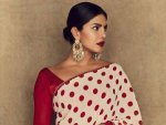 Priyanka Chopra Jonas In A Polka Dot Sari For The Sky Is Pink Promotions
