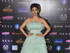 Mouni Roy In A Feathery Gown At Iifa Awards