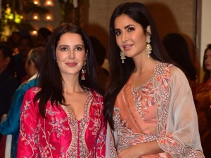 Kaif Sisters Turn Heads In Traditional Attires At Ganpati Celebrations