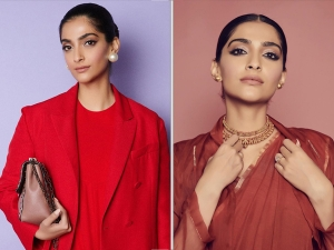Sonam Kapoor Ahuja Wears Red Outfits For The Zoya Factor Promotions