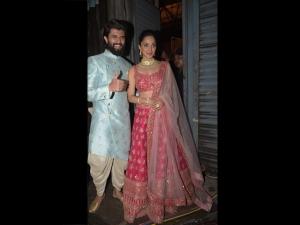 Kiara Advani And Vijay Deverakonda Spotted In Ethnic Outfits At An Andheri Studio