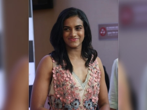 P V Sindhu In A Floral Gown At The World Championships Honor Event In Mumbai