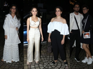 Bollywood Celebrities In Their Chic Outfits At The Screening Of Dream Girl