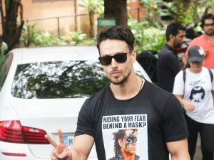 Tiger Shroff In A Krrish T Shirt To Promote His Upcoming Film War
