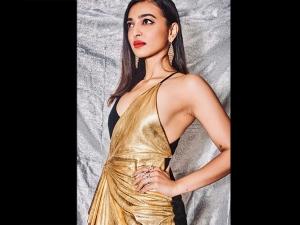 Sacred Games Actress Radhika Apte In A Golden Black Dress At Iifa Rocks