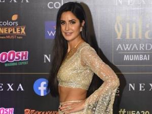 Bharat Actress Katrina Kaif In A Golden Lehenga At Iifa Awards