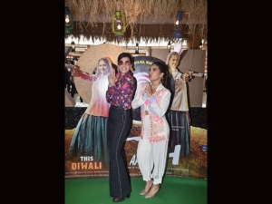 Bhumi Pednekar And Taapsee Pannu In Quirky Outfits At Saand Ki Aankh Trailer Launch