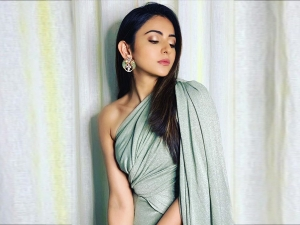 Rakul Preet Singh In A Green Draped Jumpsuit For Launch Even