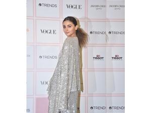 Alia Bhatt S Shimmery Attire At The Vogue Beauty Awards