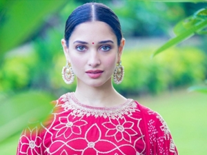 Tamannaah Bhatia In A Fuschia Pink Outfit For Sye Raa Narasimha Reddy Press Meet In Chennai