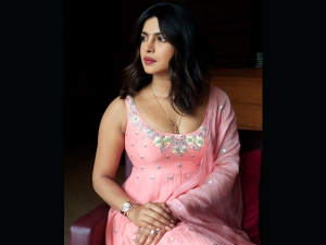 Priyanka Chopra Jonas In A Blush Pink Anarkali For The Sky Is Pink Promotions In Ahmedabad
