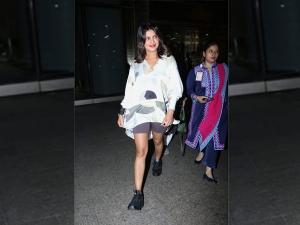 Priyanka Chopra Jonas In A Breezy Outfit At Mumbai Airport