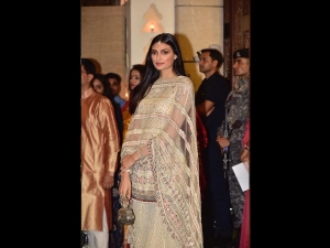 Athiya Shetty In A Sharara For Ambani S Ganesh Chaturthi Celebrations