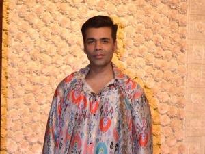 Karan Johar In A Festive Outfit For Ambani S Ganesh Chaturthi