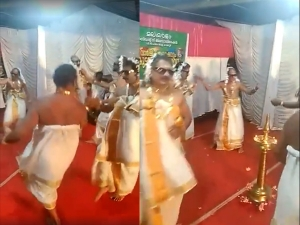 Viral Video Of Men Dressed As Women And Dancing For Onam 2019 In Kerala