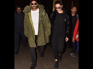Deepika Padukone And Ranveer Singh Spotted In Jackets At The Airport
