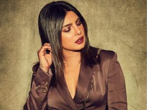 Priyanka Chopra S Metallic Brown Make Up Look For The Sky Is Pink Promotions