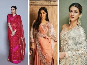 Karisma Katrina Kriti Sanon Ganesh Chaturthi Make Up Looks