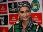 Sonam Kapoor Ahuja In A Patterned Outfit At A Book Launch Of Aladia Sisters