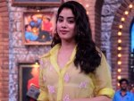 Dhadak Actress Janhvi Kapoor In A Quirky Wear With Ishaan Khatter At Movie Masti Sets