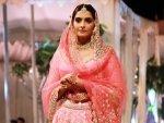 The Zoya Factor Actress Sonam Kapoor Ahuja Walks The Ramp In Pink Lehenga For Abhinav Mishra