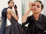 Deepika Padukone In Two Black Outfits For The Digital Covershoot Of Harper S Bazaar Us