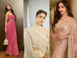 Bollywood Divas Madhuri Dixit Shilpa Shetty And Mouni Roy In Saris