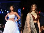 Nupur Sanon And Tara Sutaria In Designer Lehengas At The Wedding Junction Fashion Show