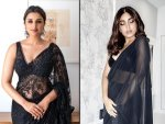 Bhumi Pednekar And Parineeti Chopra In Gorgeous Black Saris
