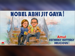 Amul Honors Abhijit Banerjee And Esther Duflo With Its Doodle