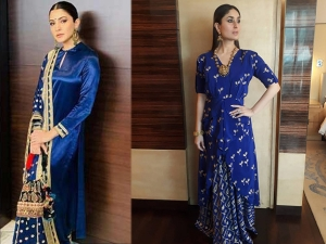 Royal Blue Outfit Ideas From Bollywood Divas For Navaratri