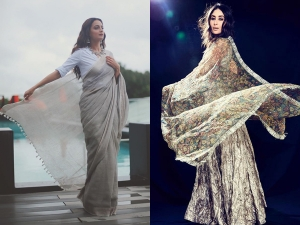 Grey Hued Ethnic Outfits Inspiration From Bollywood Divas For Navratri