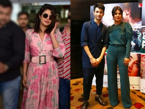 Priyanka Chopra In A Pink Maxi At Airport And Green Pant Set At The Sky Is Pink Promotions