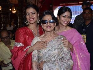Kajol Tanishaa Mukerji And Tanuja S Durga Puja Looks