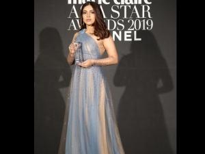 Saand Ki Aankh Actress Bhumi Pednekar Wins Face Of Asia Award In Nude Blue Gown At Biff