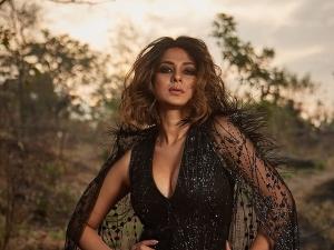 Jennifer Winget Aka Maya In Black Bold Dress For The Photoshoot Of Beyhadh