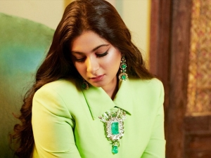 Rhea Kapoor In Green Blazer And Handcrafted Lehenga By Abu Jani Sandeep Khosla