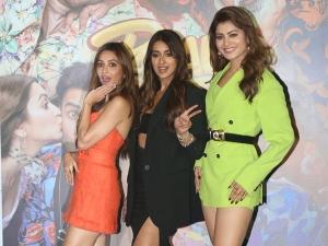 Kriti Kharbanda Ileana D Cruz And Urvashi Rautela In Stunning Outfits At Pagalpanti Trailer Launch