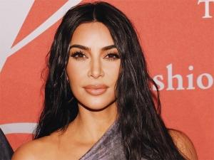 Kim Kardashian In A Metallic Dress With Kanye West Ar The Fgi Night Of The Stars