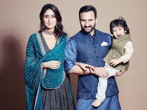 Kareena Kapoor Khan Saif Ali Khan And Taimur In Traditionals For Diwali