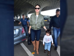 Taimur Ali Khan Twins With Kareena Kapoor Khan In Boots And His Quirky Tee