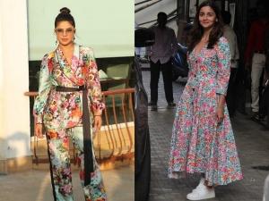 Priyanka Alia Amyra And Malaika In Patterned Outfits
