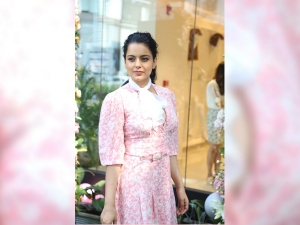 Kangana Ranaut In A Floral Dress At An Event