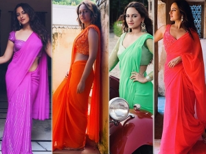 Sonakshi Sinha S Colourful Saris From Yu Karke From Dabangg